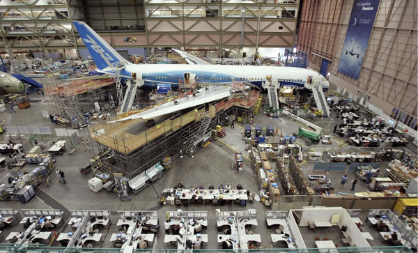 Boeing 787 under construction