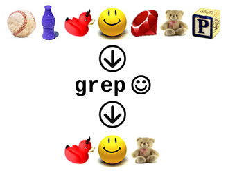 "Graphic representation of the ""grep"" method in Ruby's ""Enumerable"" module"