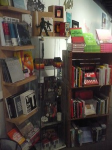 "Some of the books available at the Rich Media Institute's ""store"" section"