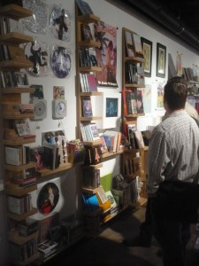 "The music area of the Rich Media Institute's ""store"" section"
