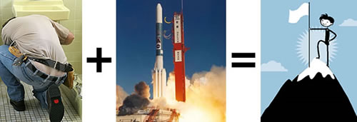 Ass plus rockets equals success