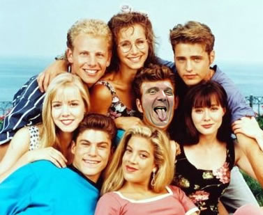 "The original ""90210"" cast, with Steve Ballmer's head on Luke Perry's body"