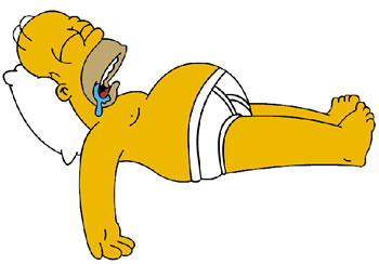Homer Simpson sleeping