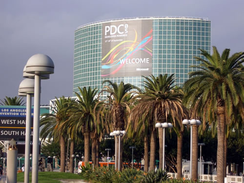 Los Angeles Convention Center with PDC05 banner