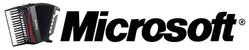 Microsoft logo, enhanced with an accordion