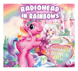"""My Little Pony"" version of the cover for Radiohead's ""In Rainbows"" album"