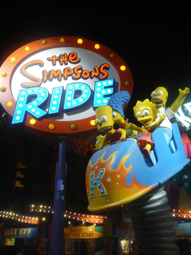"Sign for Universal Studios' ""The Simpsons Ride"""
