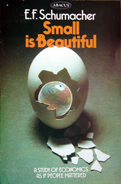 "Cover of E.F. Schumacher's book, ""Small is Beautiful"""