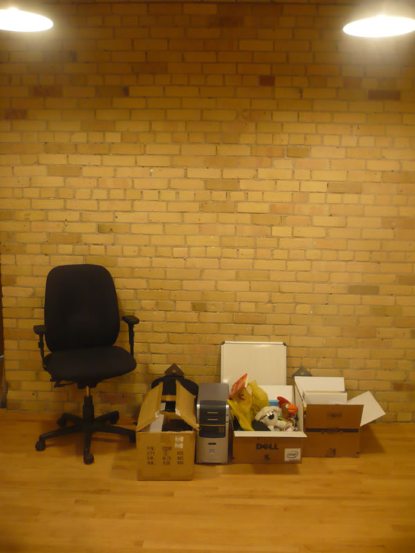 My stuff at the office