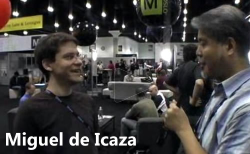 Still from Joey deVilla's interview with Miguel de Icaza