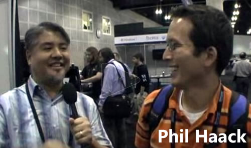 Still from Joey deVilla's interview with Phil Haack