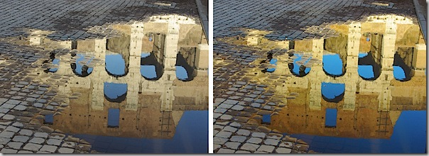 """Before/after"" photo showing the Photoshop colour-enhancing technique in action"