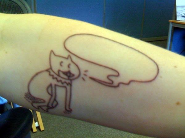 A close-up of Leah Culver's tattoo