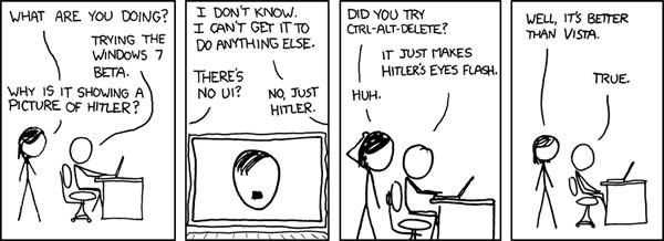 """xkcd"" comic on Windows 7"