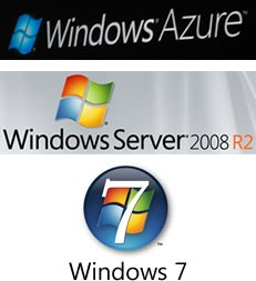 Logos: Windows Azure, Windows Server 2008 R2 and Windows 7