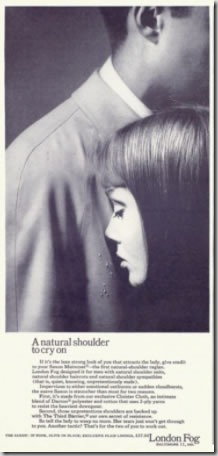 "October 1963 Playboy ""London Fog"" ad, zoomed out"