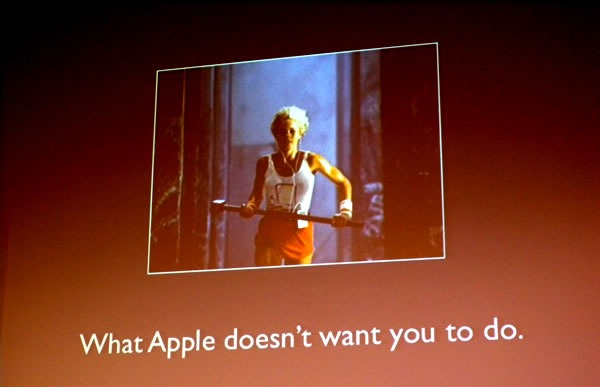 Slide: What Apple doesn't want you to do