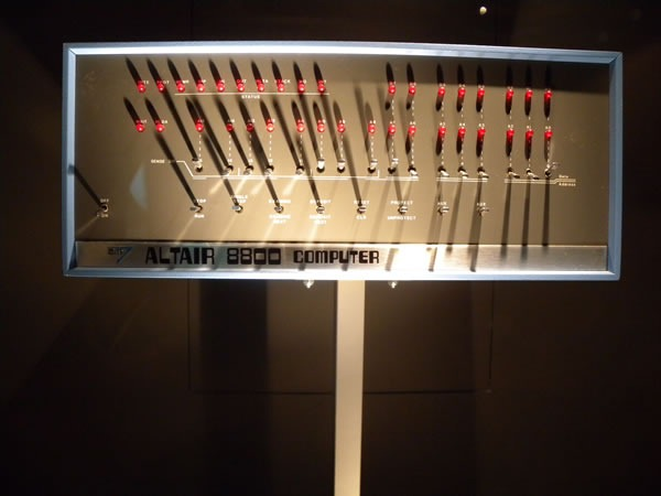 Altair 8800 computer on display at Microsoft's Building 92 gallery