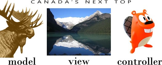 Canada's Next Top Model (moose) View (Lake Louise) Controller (beaver)