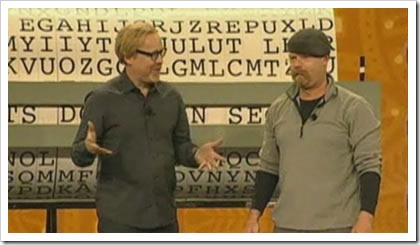 Adam Savage and Jamie Hyneman at their keynote at the 2009 RSA Conference