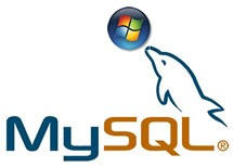 "MySQL dolphin balancing Windows ""ball"" logo on its snout"
