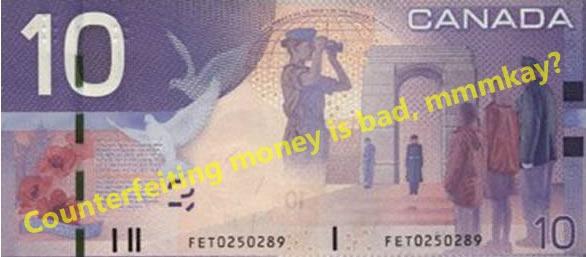 Canadian $10 bill