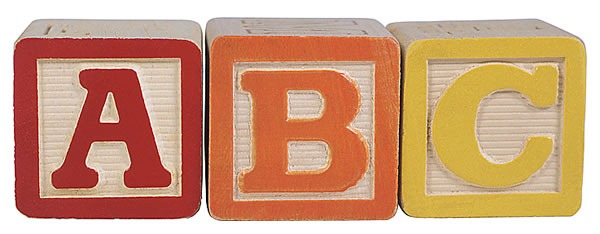 """ABC"" toy wooden blocks"