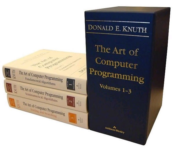 "Volumes 1-3 of Donald Knuth's ""The Art of Computer Programming"""