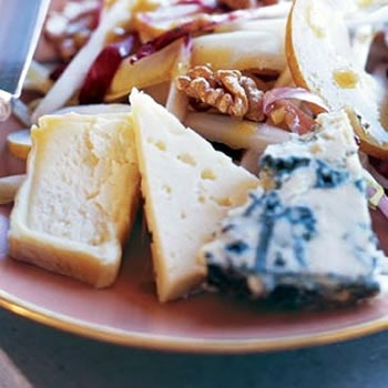 Plate of artisanal cheeses