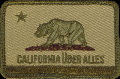 """California Uber Alles"" patch"