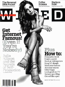 """The """"Julia Allison"""" cover of Wired"""