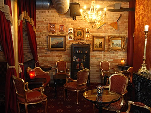 """Sitting room"" area in Pravda Vodka Bar"
