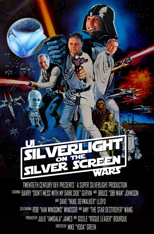 """Silverlight on the Silver Screen"" ""Star Wars"" parody poster"