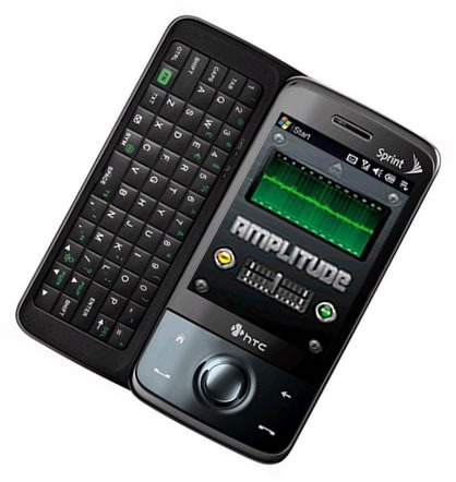 HTC phone with Amplitude on screen (simulated)