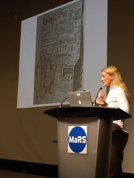 Victoria Stodden speaking at the Science 2.0 conference
