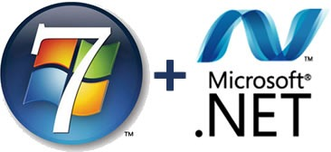 Windows 7 logo and Microsoft .NET logo