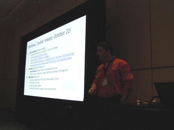Anthony Vranic doing his presentation at TechDays