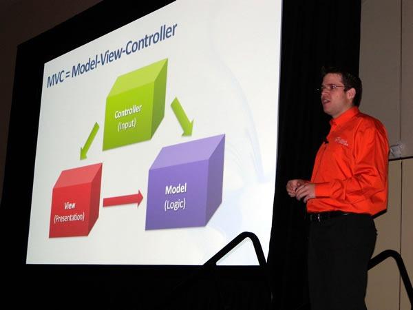 Colin Bowern doing his presentation at TechDays