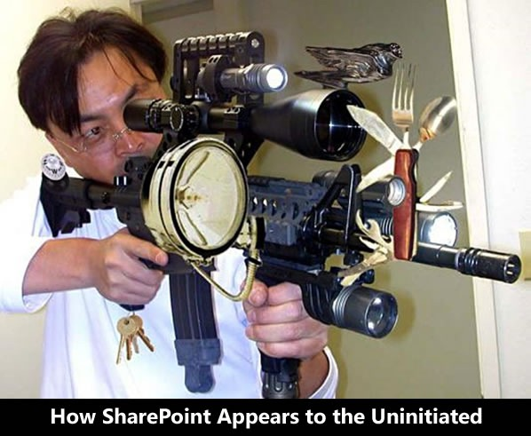 how sharepoint appears to uninitiated