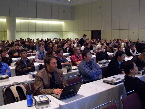 "Full room at the ""Platform"" track"