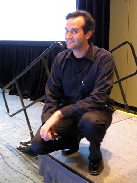 Rob Burke posing onstage