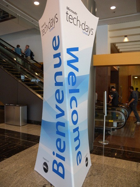 """Welcome"" sign at Techdays 2009 Vancouver"