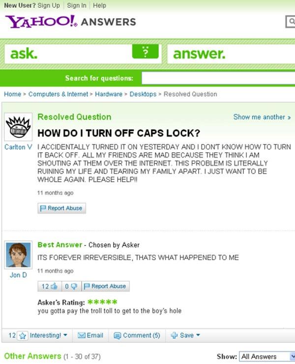 how do i turn off caps lock