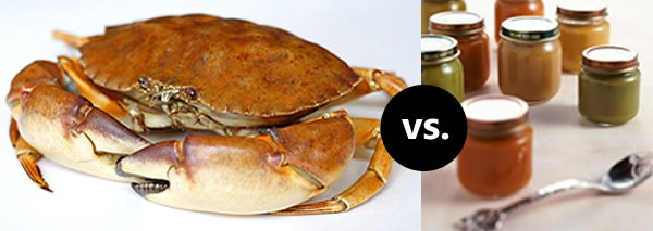 Crab vs baby food