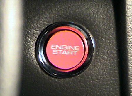 Mustang starter button labelled
