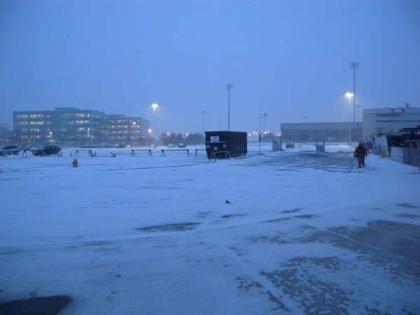 01 snowy parking lot