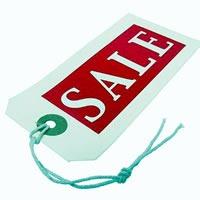 "Price tag reading ""Sale"""