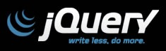 "jQuery logo: ""Write less, do more."""