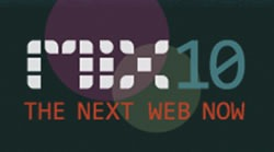"""MIX10: The Next Web Now"" logo button"