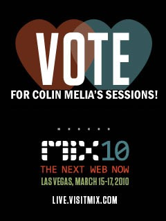 vote for colin melia